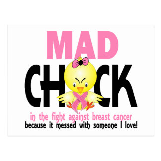 Mad Chick In The Fight Breast Cancer Postcard