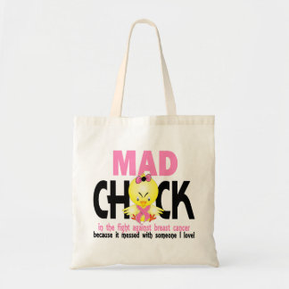 Mad Chick In The Fight Breast Cancer Tote Bag