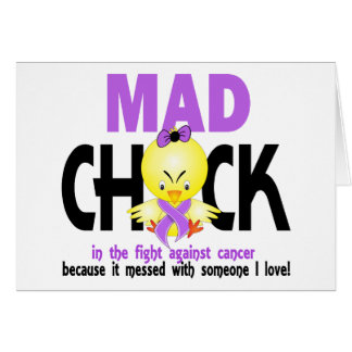 Mad Chick In The Fight Cancer Card