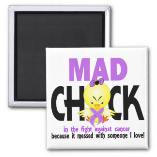 Mad Chick In The Fight Cancer Magnet