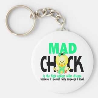 Mad Chick In The Fight Celiac Disease Key Chain