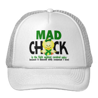 Mad Chick In The Fight Cerebral Palsy Hats