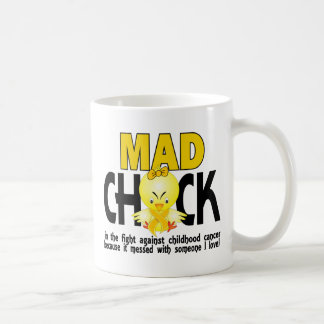 Mad Chick In The Fight Childhood Cancer Mug