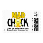 Mad Chick In The Fight Childhood Cancer Stamps