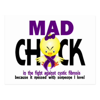 Mad Chick In The Fight Cystic Fibrosis Postcard