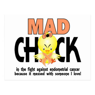 Mad Chick In The Fight Endometrial Cancer Postcard