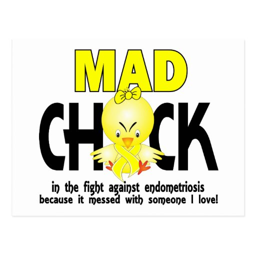 Mad Chick In The Fight Endometriosis Postcards