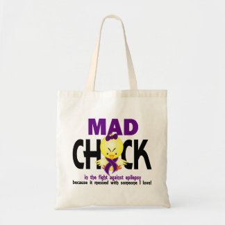 Mad Chick In The Fight Epilepsy Budget Tote Bag