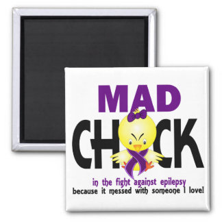 Mad Chick In The Fight Epilepsy Magnet