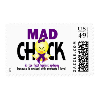 Mad Chick In The Fight Epilepsy Stamps