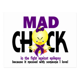 Mad Chick In The Fight Epilepsy Postcard