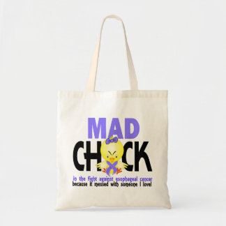 Mad Chick In The Fight Esophageal Cancer Budget Tote Bag