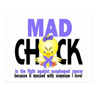 Mad Chick In The Fight Esophageal Cancer Postcard