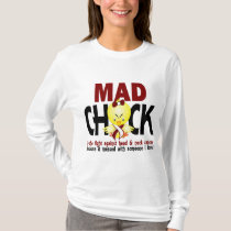 Mad Chick In The Fight Head And Neck Cancer T-Shirt