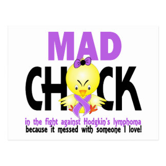 Mad Chick In The Fight Hodgkin's Lymphoma Postcard
