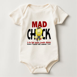 Mad Chick In The Fight Juvenile Diabetes Baby Bodysuit