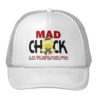 Mad Chick In The Fight Juvenile Diabetes Hats