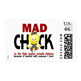 Mad Chick In The Fight Juvenile Diabetes Stamp