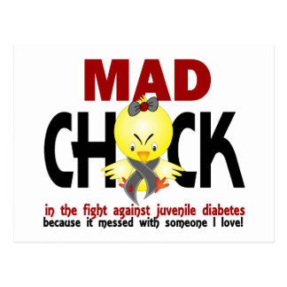 Mad Chick In The Fight Juvenile Diabetes Postcard
