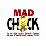 Mad Chick In The Fight Juvenile Diabetes Postcards