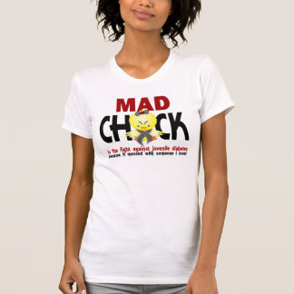 Mad Chick In The Fight Juvenile Diabetes Tee Shirt