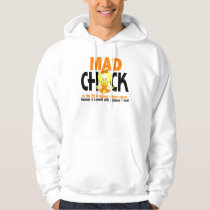 Mad Chick In The Fight Kidney Cancer Hoodie