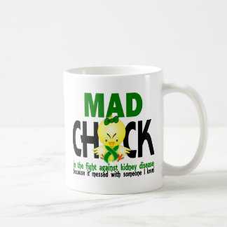 Mad Chick In The Fight Kidney Disease Classic White Coffee Mug
