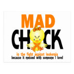Mad Chick In The Fight Leukemia Postcard