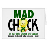 Mad Chick In The Fight Liver Cancer Card