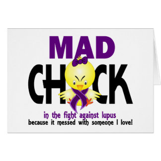 Mad Chick In The Fight Lupus Card