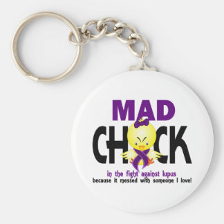 Mad Chick In The Fight Lupus Key Chains