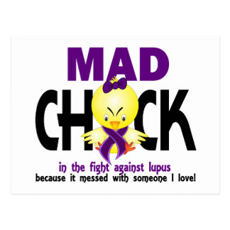 Mad Chick In The Fight Lupus Postcard