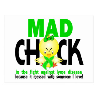 Mad Chick In The Fight Lyme Disease Postcard