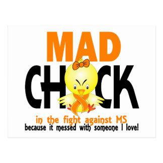 Mad Chick In The Fight MS Post Cards