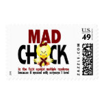 Mad Chick In The Fight Multiple Myeloma Postage