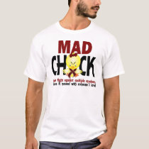 Mad Chick In The Fight Multiple Myeloma T-Shirt