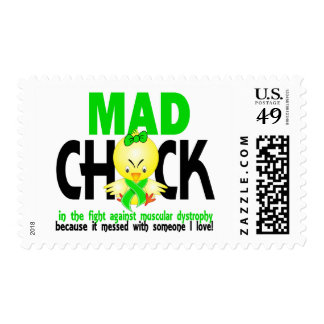 Mad Chick In The Fight Muscular Dystrophy Postage