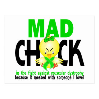 Mad Chick In The Fight Muscular Dystrophy Postcard