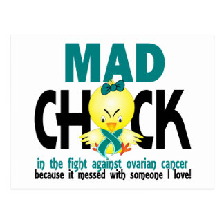 Mad Chick In The Fight Ovarian Cancer Postcard