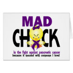 Mad Chick In The Fight Pancreatic Cancer Greeting Card