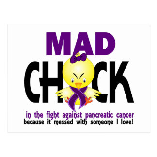 Mad Chick In The Fight Pancreatic Cancer Postcard