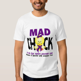 Mad Chick In The Fight Pancreatic Cancer Tee Shirt