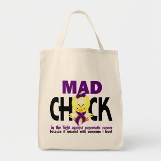 Mad Chick In The Fight Pancreatic Cancer Tote Bag