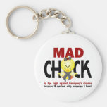 Mad Chick In The Fight Parkinson's Disease Key Chain