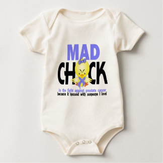 Mad Chick In The Fight Prostate Cancer Baby Bodysuit