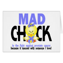 Mad Chick In The Fight Prostate Cancer Card