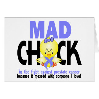 Mad Chick In The Fight Prostate Cancer Greeting Card