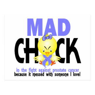 Mad Chick In The Fight Prostate Cancer Postcard