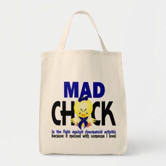 Mad Chick In The Fight Rheumatoid Arthritis Grocery Tote Bag