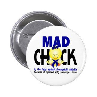Mad Chick In The Fight Rheumatoid Arthritis Button